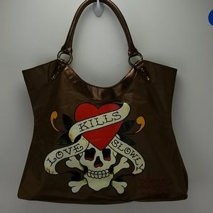 Ed Hardy Designs Brown Tote